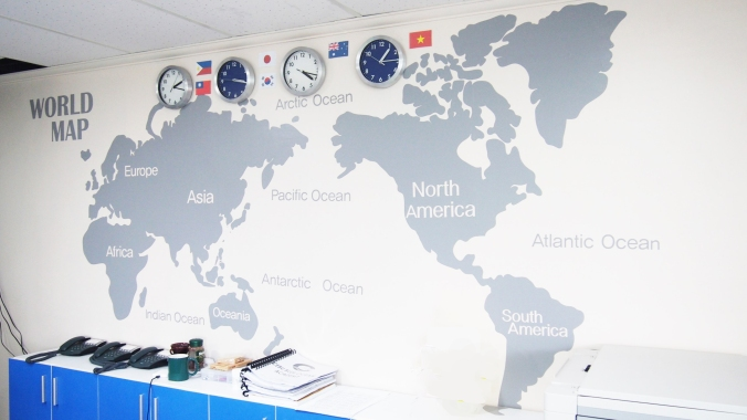 オフィスの世界地図