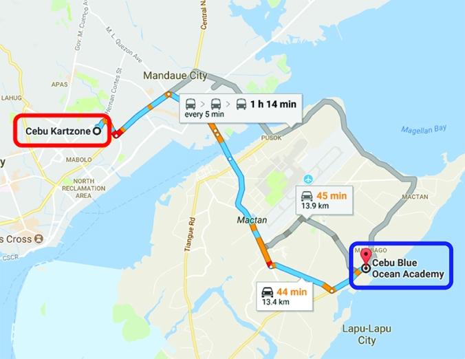 KART ZONE MAP